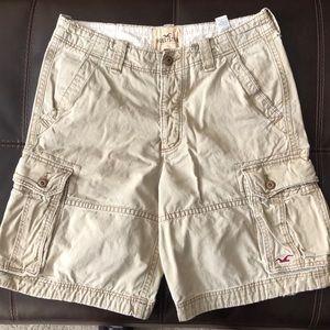 Hollister khaki shorts men's size 33